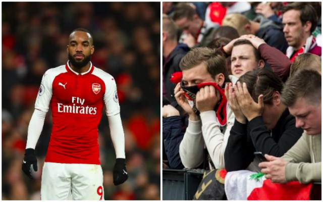 Lacazette has savaged the atmosphere at English grounds