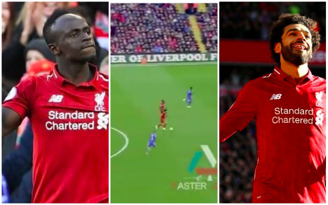 Watch this unreal linkup between Mane & Salah v Cardiff