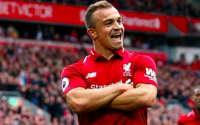 (Video) Shaqiri serenades Firmino free-kick
