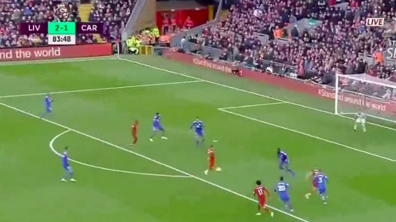 (Video) Shaqiri scores Messi-esque goal for Liverpool