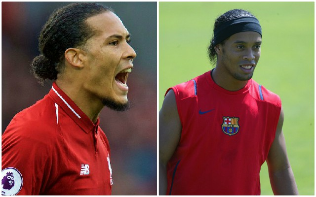 (Video) Van Dijk recreates famous Ronaldinho clip with exquisite touch
