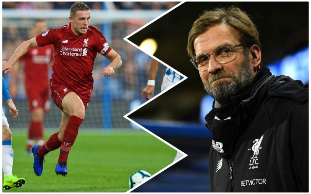 Why Jordan Henderson was taken off at half-time vs. Huddersfield