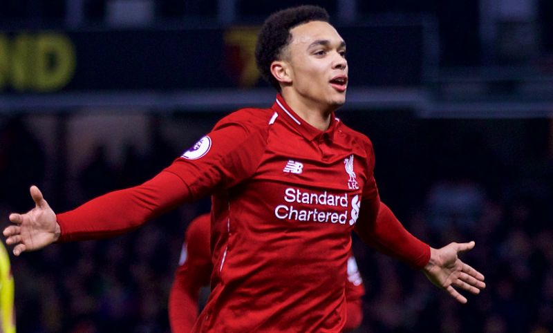 (Video) Trent's cheeky smile as LFC fans drown out CL anthem