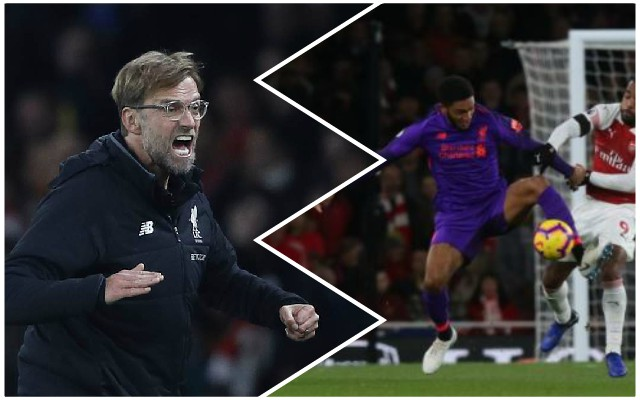 Klopp reveals what made him unhappy in Arsenal draw