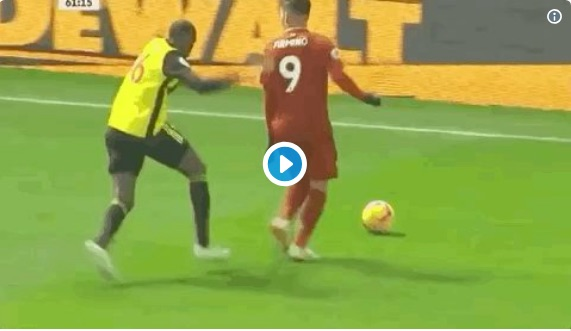 (Video) Firmino sends Deeney to the shops with outrageous spinning nutmeg