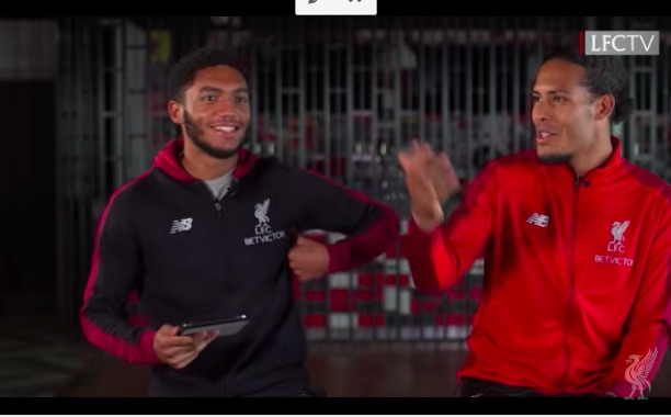 (Video) Van Dijk: Gomez looked a bit fat at Charlton, but he's done well 😂