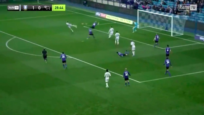 (Video) Harry Wilson hits stunning volley for Derby with perfect technique