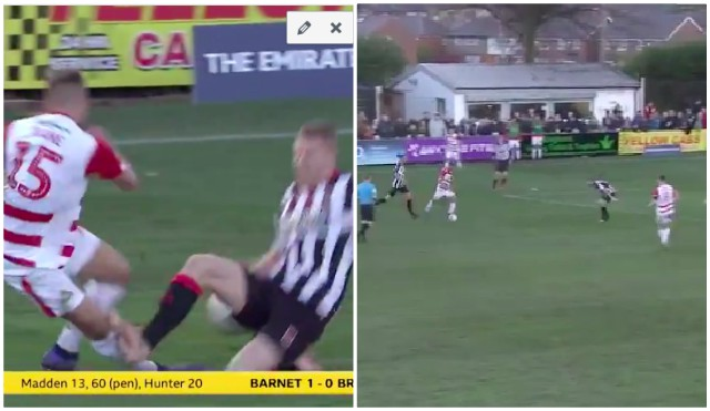 (Video) Liverpool loanee victim of horror-tackle, but then scores worldie