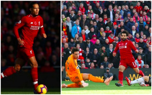 (Video) Fans spot what Van Dijk did to help LFC's first goal yesterday…