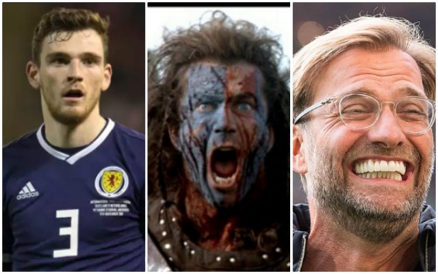 Klopp sent Robbo epic Braveheart text after Scotland captaincy announced 🏴