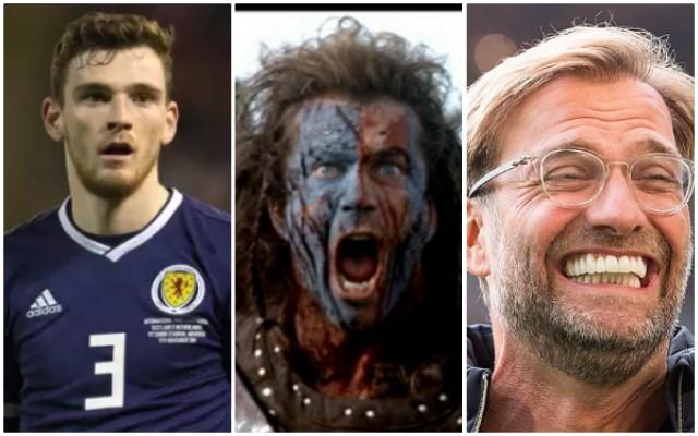 Klopp sent Robbo epic Braveheart text after Scotland captaincy announced 🏴
