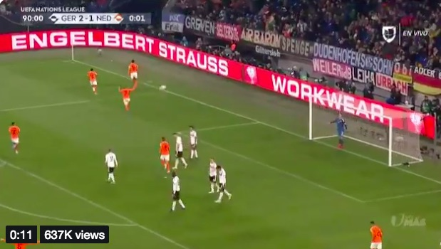 (Video) Van Dijk scores 90th minute volley equaliser to send Holland through