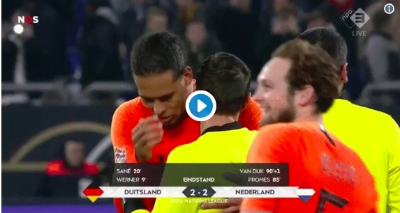 Van Dijk consoled crying ref last night in true show of class