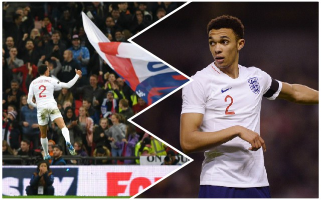 'Best RB in the world': Reds fans delighted as Trent scores first England goal