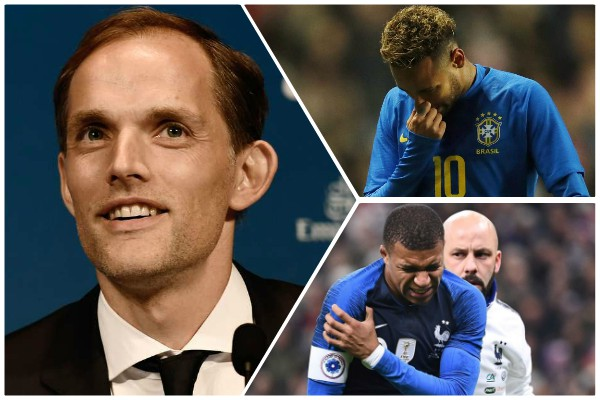 PSG boss Tuchel provides latest injury update on Neymar and Mbappe