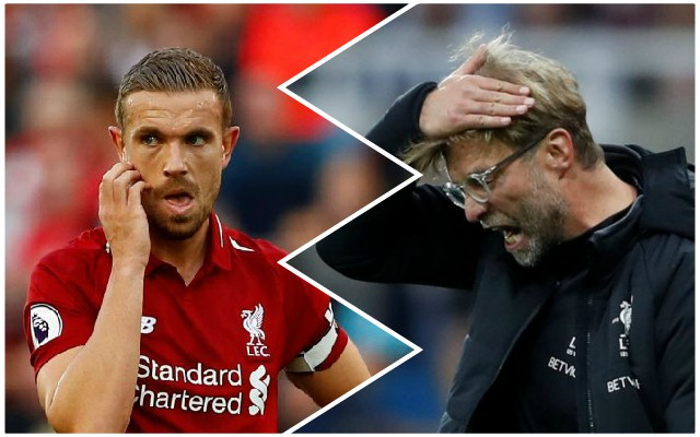 Klopp makes admission about plans for Henderson before red card