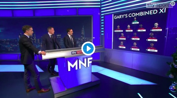 (Video) Hilarious: Carra in stitches as Neville tries to put Pogba in Combined Liverpool/United XI