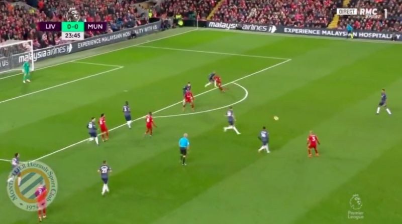 (Video) Fabinho wonder-assist sees Sadio Mane bag v United