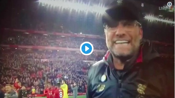(Video) Klopp got annoyed at Sky Sports cameraman after Everton win
