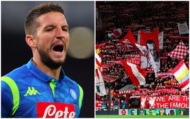 Mertens disrespects Anfield; accuses atmosphere of being a myth