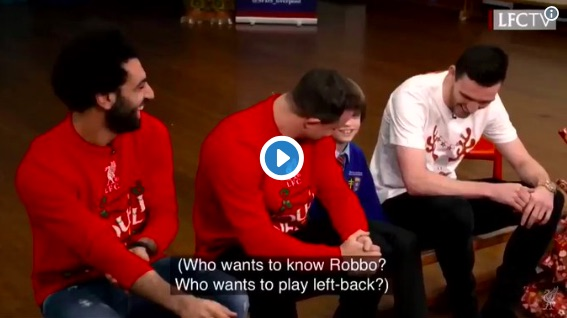 (Video) Salah winds up Robbo as LFC stars visit school kids at Christmas