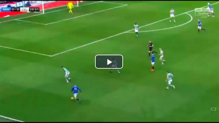 (Video) Ryan Kent's superb assist win Gerrard & Rangers the Derby