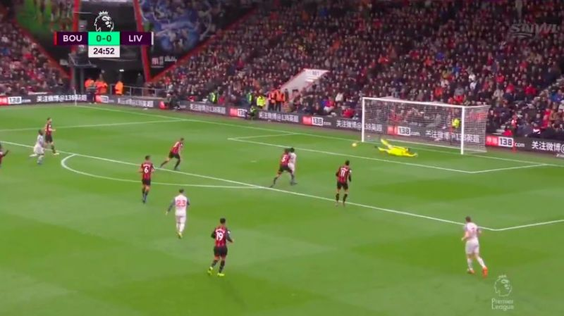 (Video) Salah goal v Bournemouth: Mo gobbles up after Firmino blaster
