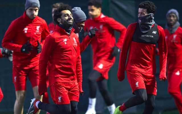 Liverpool fans have spotted a surprise inclusion at first-team training…