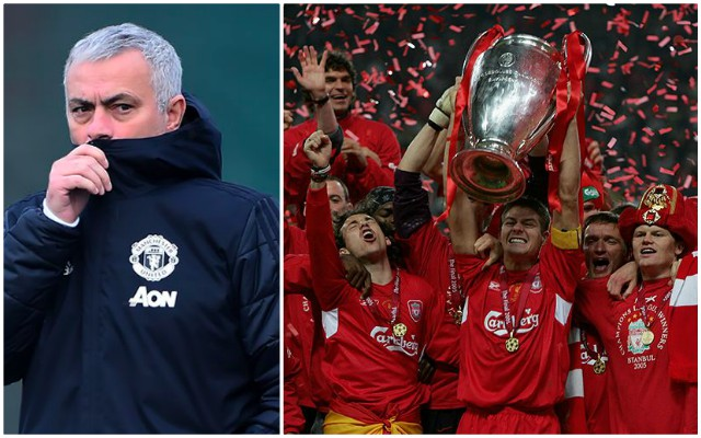 Jose Mourinho compares 2005 Liverpool side to Jurgen Klopp's current team