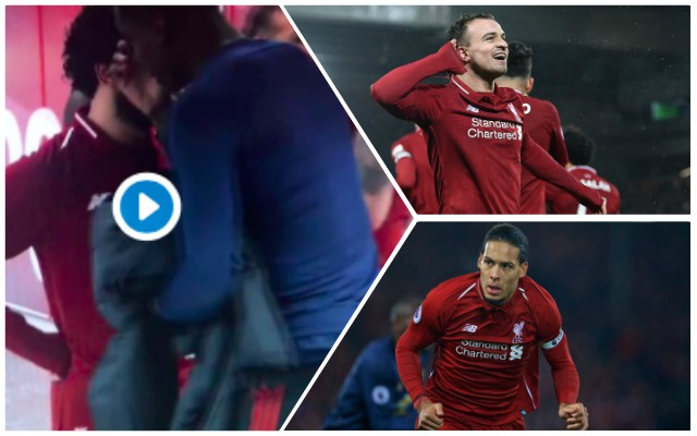 Fan spots Van Dijk's superb Shaqiri greeting in tunnel after Man Utd win