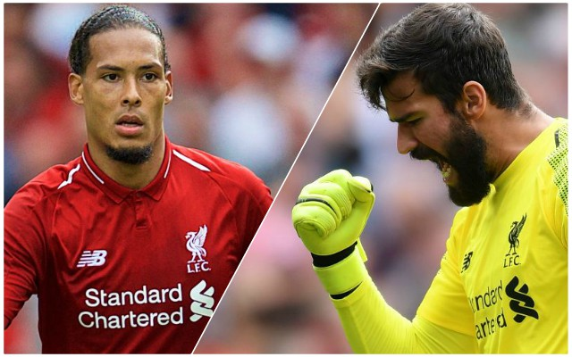 Reds will love what Van Dijk said to Alisson after mistake vs. Man Utd