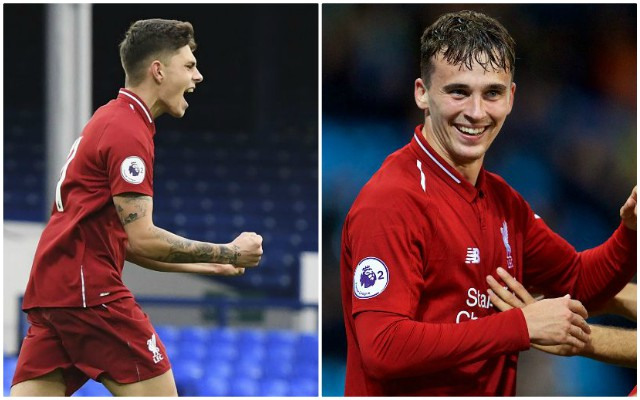 Liverpool U23s duo spotted in senior training on Christmas Eve