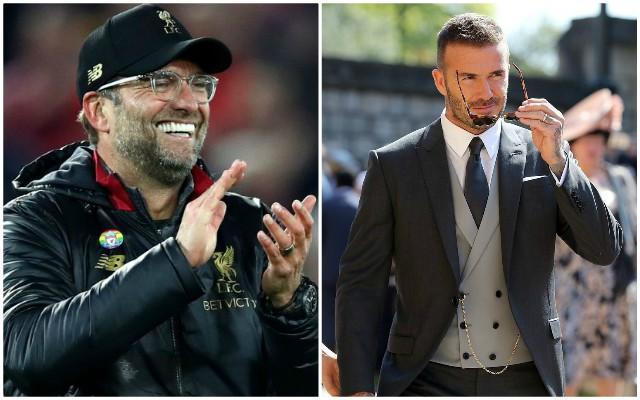 David Beckham nails it with defence of Jurgen Klopp celebration