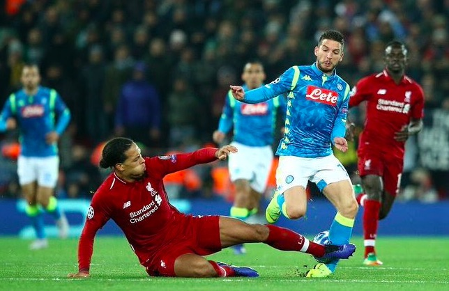 Van Dijk vehemently defends Mertens tackle