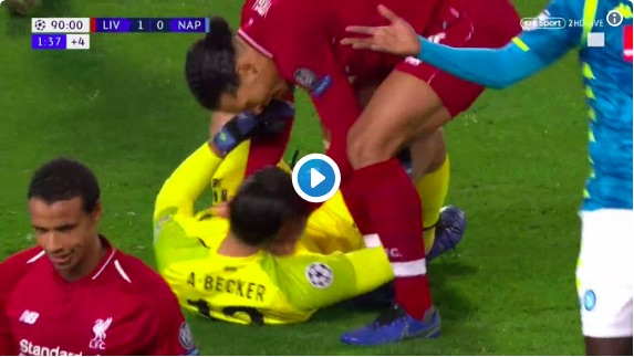 (Video) Look how Van Dijk reacted to Alisson's save…