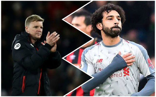 Eddie Howe in awe of Mo Salah at Vitality Stadium