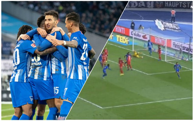 (Video) Marko Grujic powerfully heads home winner for Hertha Berlin