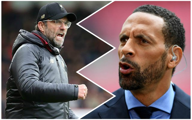 Gloating Rio Ferdinand stokes fires before Liverpool v Manchester United, next up in Premier League