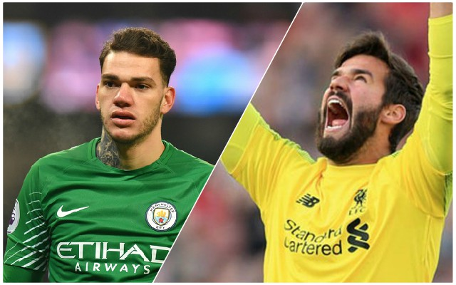 Definitive proof that Alisson is better than Man City's Ederson