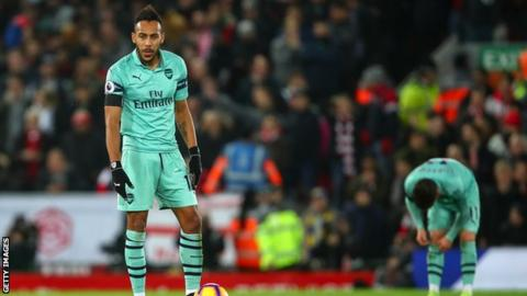 Aubameyang has just now laughed off 'Sh*t game in Liverpool'