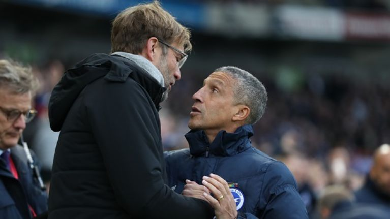 LFC boosted by good luck before Brighton clash; Hughton forced to field journeyman