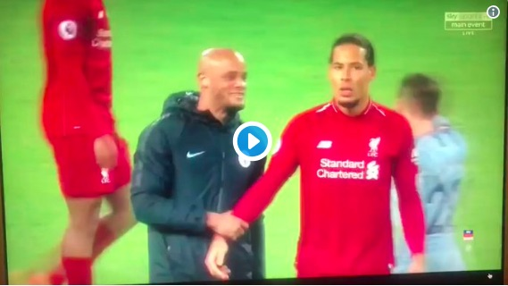 (Video) Van Dijk has zero time for Kompany's Full Time joke