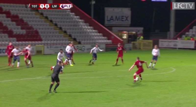(Video) Liam Coyle bags lovely curler for Liverpool U23s v Spurs