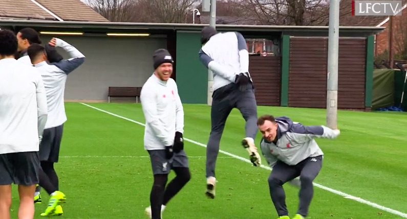 (Video) Matip nutmegs Bobby & everyone loses the plot at Melwood