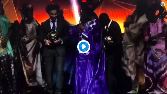 (Video) Salah dances like everyone is watching after African Player of the Year Award