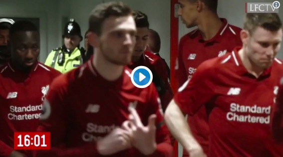 (Video) Footage shows Robbo giving Keita half-time pep-talk