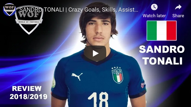 (Video) Watch Sandro Tonali's Best Bits, as Liverpool enter talks for €35m Italian