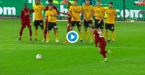 (Video) Watch Xherdan Shaqiri clatter the post with superb free-kick
