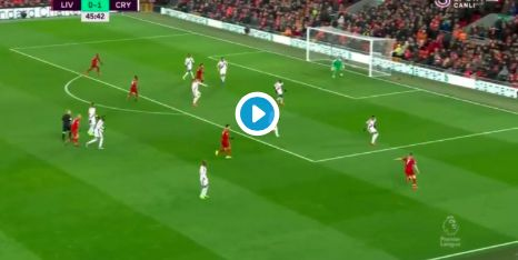 (Video) Mo Salah equalises for Liverpool after Van Dijk's fortuitous assist