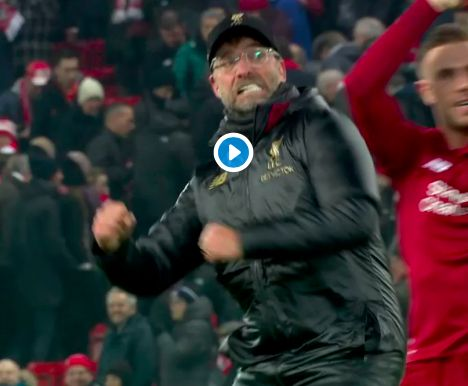 (Video) Jurgen Klopp is every single Liverpool fan after 4-3 win over Crystal Palace